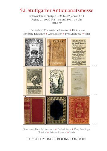52. Stuttgarter Antiquariatsmesse - International League of ...