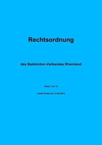 Rechtsordnung - Badminton Verband Rheinland