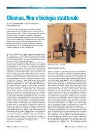 Chimica, Nmr e biologia strutturale