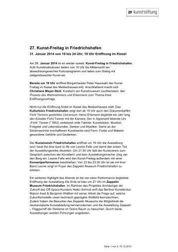 27. Kunst-Freitag in Friedrichshafen - ZF Friedrichshafen AG