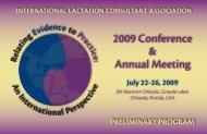 Preliminary Program - ILCA 2009 Conference - International ...