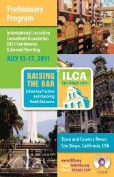 Preliminary Program - International Lactation Consultant Association