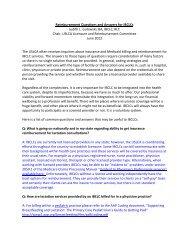 Reimbursement Questions and Answers for IBCLCs - USLCA