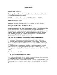 Codex Alimentarius Committee on Nutrition and Foods for Special ...