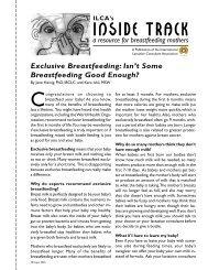 INSIDE TRACK - Utah Breastfeeding Coalition