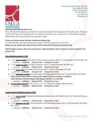 the USLCA recorded webinar order form