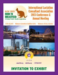 Exhibitor Prospectus - International Lactation Consultant Association