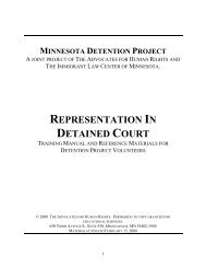 WHERE IS DETAINED COURT - Immigrant Law Center of Minnesota