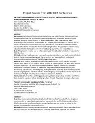 Project Posters from 2012 ILCA Conference - International Lactation ...