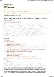 Die Banken-Beihilfenkontrolle der Europäischen Kommission ...