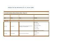 Zeitplan für den Workshop 10./11. Januar 2003 Universität Hamburg ...