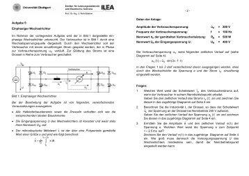 Aufgabe 5: Einphasiger Wechselrichter Im Rahmen der ...
