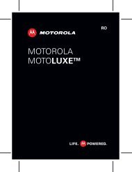 Manual Motorola Motoluxe XT615 - Romana Descarca - ILEX