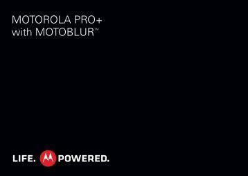MOTOROLA PRO PLUS - User Guide - Mobile Phones