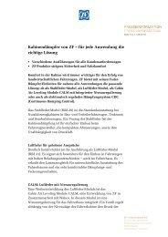 für jede Anwendung die richtige Lösung (PDF, 109 KB) - ZF ...