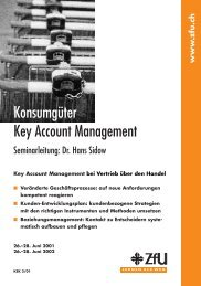 Konsumgüter Key Account Management