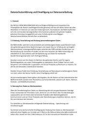 Datenschutzerklärung und Einwilligung zur ... - nicolediem.ch