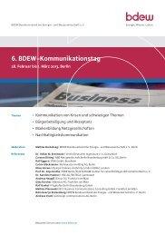 6. BDEW-Kommunikationstag - EW Medien