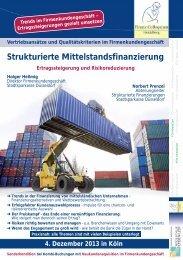 Strukturierte Mittelstandsfinanzierung - Finanz Colloquium Heidelberg