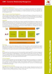 CRM Factsheet Seite 2 - KINAMU Business Solutions AG