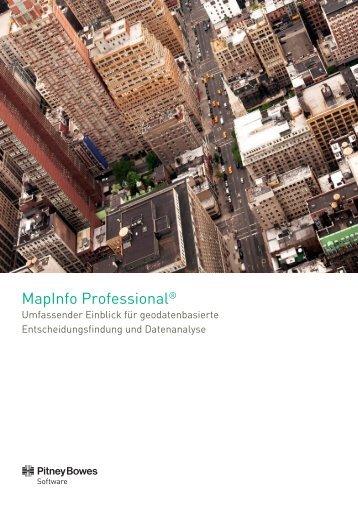 MapInfo Suite Datenblatt - Pitney Bowes Deutschland GmbH