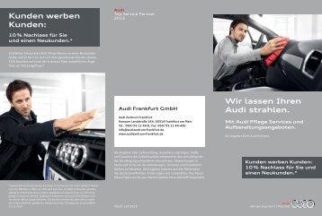 Flyer Fahrzeugpflege - Audi