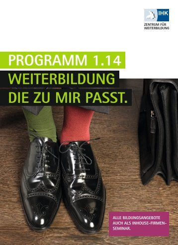 IHK Zentrum für Weiterbildung | Programm 1/2012