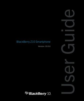 BlackBerry Z10 User Guide - Mascom Wireless