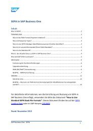 SEPA in SAP Business One - wp.Data