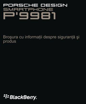 P'9981 - Broşura cu informaţii despre siguranţă şi produs - ILEX