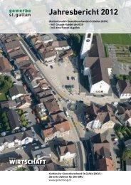 Jahresbericht 2012 - Kantonaler Gewerbeverband St.Gallen