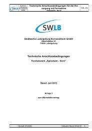 Technische Anschlussbedingungen - Stadtwerke Ludwigsburg