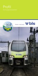 Broschüre «Profil 2013 - BLS