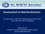 Vortrag Kühner als PDF zum Download - Energieagentur Regio ...