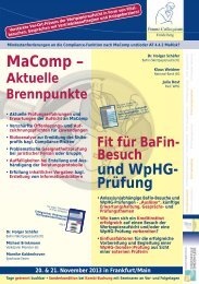 MaComp – - Finanz Colloquium Heidelberg