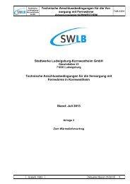 Technische Anschlussbedingungen für die Ver - Stadtwerke ...