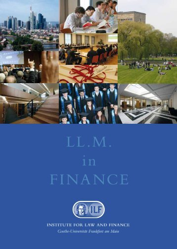LL.M. in FINANCE - Institute For Law And Finance