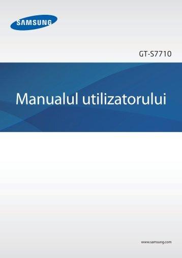 Manual Samsung S7710 Galaxy Xcover 2 Romana Descarca - Ilex