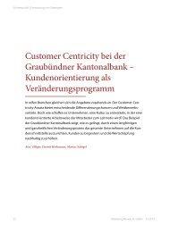 Customer Centricity bei der Graubündner Kantonalbank ...