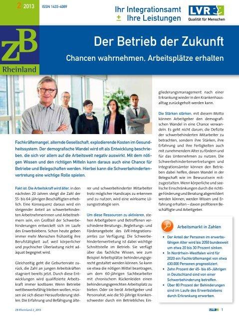ZB Rheinland 02/2013 - Landschaftsverband Rheinland
