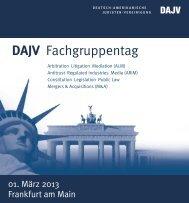 DAJV Fachgruppentag - Institute For Law And Finance