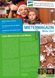 mietermagazin - Wohnungsbaugesellschaft Bergstadt Schneeberg ...