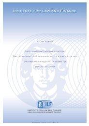 UND MARKTPREISMANIPULATION - Institute For Law And Finance