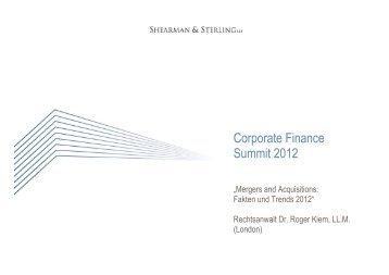 R. Kiem Corporate_Finance_Summit_2012 [Kompatibilitätsmodus]