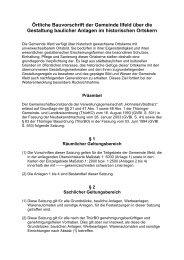 Örtliche Bauvorschrift der Gemeinde Ilfeld über die ... - in Ilfeld