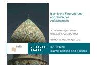 Islamische Finanzierung und deutsches Aufsichtsrecht