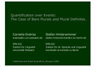 The Case of Bare Plurals and Plural Definites. - Institut für Linguistik ...