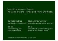 The Case of Bare Plurals and Plural Definites. - Institut für Linguistik ...