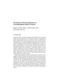 Introduction: Historical linguistics as a transdisciplinary field of ...