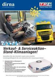 Verkauf- & Serviceaktion-; Stand-Klimaanlagen!